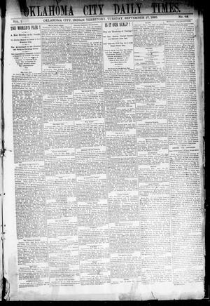 Primary view of Oklahoma City Daily Times. (Oklahoma City, Indian Terr.), Vol. 1, No. 68, Ed. 1 Tuesday, September 17, 1889