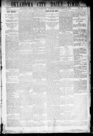 Primary view of Oklahoma City Daily Times. (Oklahoma City, Indian Terr.), Vol. 1, No. 69, Ed. 1 Wednesday, September 18, 1889
