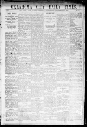Primary view of Oklahoma City Daily Times. (Oklahoma City, Indian Terr.), Vol. 1, No. 72, Ed. 1 Saturday, September 21, 1889
