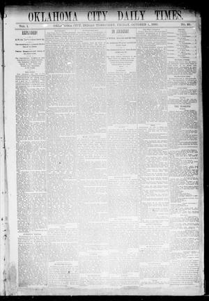Primary view of object titled 'Oklahoma City Daily Times. (Oklahoma City, Indian Terr.), Vol. 1, No. 83, Ed. 1 Friday, October 4, 1889'.