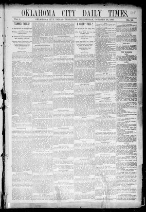 Primary view of object titled 'Oklahoma City Daily Times. (Oklahoma City, Indian Terr.), Vol. 1, No. 93, Ed. 1 Wednesday, October 16, 1889'.