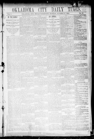 Primary view of object titled 'Oklahoma City Daily Times. (Oklahoma City, Indian Terr.), Vol. 1, No. 97, Ed. 1 Monday, October 21, 1889'.