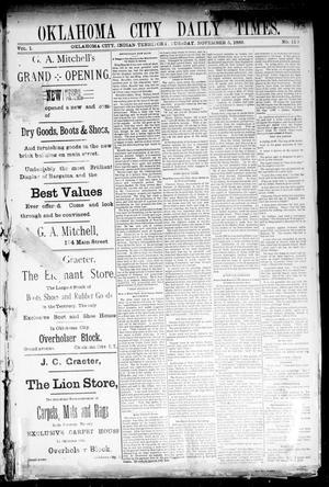 Primary view of Oklahoma City Daily Times. (Oklahoma City, Indian Terr.), Vol. 1, No. 110, Ed. 1 Tuesday, November 5, 1889