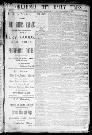 Primary view of Oklahoma City Daily Times. (Oklahoma City, Indian Terr.), Vol. 1, No. 126, Ed. 1 Saturday, November 23, 1889
