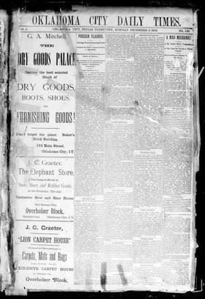 Primary view of Oklahoma City Daily Times. (Oklahoma City, Indian Terr.), Vol. 1, No. 139, Ed. 1 Monday, December 9, 1889