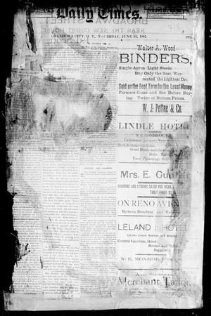 Primary view of object titled 'Daily Times. (Oklahoma City, Okla. Terr.), No. 270, Ed. 1 Thursday, June 11, 1891'.