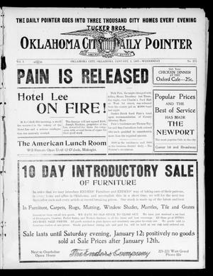Primary view of object titled 'Oklahoma City Daily Pointer (Oklahoma City, Okla.), Vol. 1, No. 272, Ed. 1 Wednesday, January 2, 1907'.