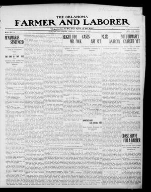 Primary view of object titled 'The Oklahoma Farmer and Laborer (Sapulpa, Okla.), Vol. 3, No. 34, Ed. 1 Friday, December 8, 1911'.