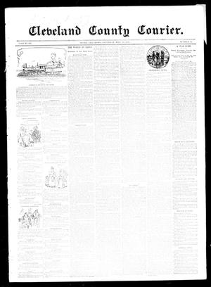 Primary view of object titled 'Cleveland County Courier. (Moore, Okla.), Vol. 3, No. 16, Ed. 1 Saturday, May 11, 1895'.