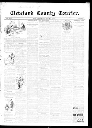 Primary view of object titled 'Cleveland County Courier. (Moore, Okla.), Vol. 3, No. 18, Ed. 1 Thursday, May 23, 1895'.