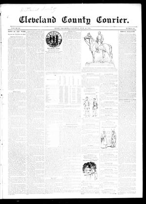 Primary view of object titled 'Cleveland County Courier. (Moore, Okla.), Vol. 3, No. 26, Ed. 1 Saturday, July 20, 1895'.