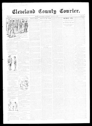 Primary view of object titled 'Cleveland County Courier. (Moore, Okla.), Vol. 3, No. 28, Ed. 1 Saturday, August 3, 1895'.