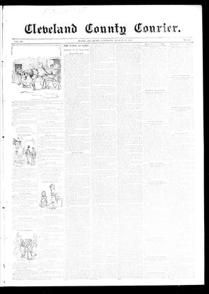 Primary view of object titled 'Cleveland County Courier. (Moore, Okla.), Vol. 3, No. 31, Ed. 1 Saturday, August 24, 1895'.