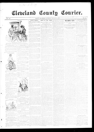 Primary view of object titled 'Cleveland County Courier. (Moore, Okla.), Vol. 3, No. 32, Ed. 1 Saturday, August 31, 1895'.
