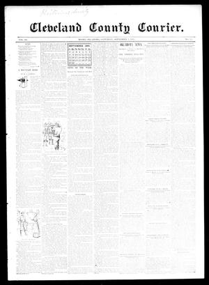 Primary view of object titled 'Cleveland County Courier. (Moore, Okla.), Vol. 3, No. 33, Ed. 1 Saturday, September 7, 1895'.