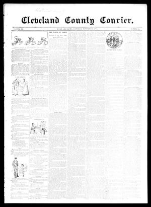 Primary view of object titled 'Cleveland County Courier. (Moore, Okla.), Vol. 3, No. 41, Ed. 1 Saturday, November 2, 1895'.