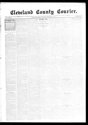 Primary view of object titled 'Cleveland County Courier. (Moore, Okla.), Vol. 3, No. 42, Ed. 1 Saturday, November 9, 1895'.