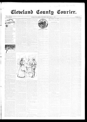 Primary view of object titled 'Cleveland County Courier. (Moore, Okla.), Vol. 3, No. 44, Ed. 1 Saturday, November 23, 1895'.