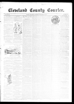 Primary view of object titled 'Cleveland County Courier. (Moore, Okla.), Vol. 3, No. 45, Ed. 1 Saturday, November 30, 1895'.