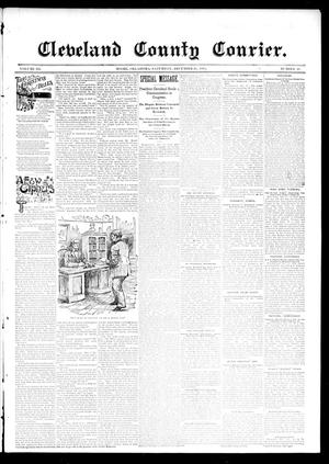 Primary view of object titled 'Cleveland County Courier. (Moore, Okla.), Vol. 3, No. 48, Ed. 1 Saturday, December 21, 1895'.