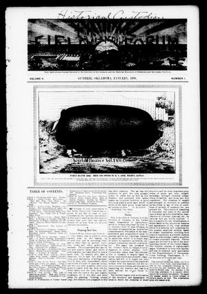 Primary view of object titled 'Home, Field and Forum (Guthrie, Okla.), Vol. 4, No. 1, Ed. 1 Wednesday, January 1, 1896'.