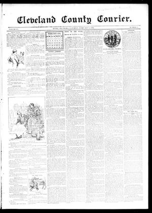 Primary view of object titled 'Cleveland County Courier. (Moore, Okla.), Vol. 4, No. 3, Ed. 1 Saturday, February 8, 1896'.