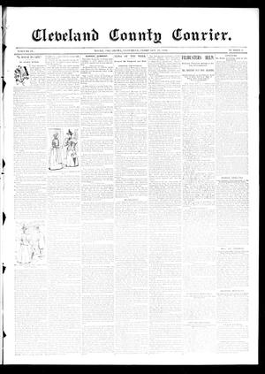 Primary view of object titled 'Cleveland County Courier. (Moore, Okla.), Vol. 4, No. 6, Ed. 1 Saturday, February 29, 1896'.