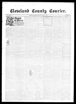 Primary view of object titled 'Cleveland County Courier. (Moore, Okla.), Vol. 4, No. 11, Ed. 1 Saturday, April 4, 1896'.