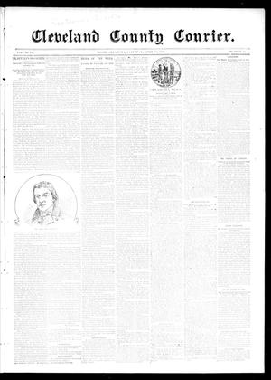 Primary view of object titled 'Cleveland County Courier. (Moore, Okla.), Vol. 4, No. 13, Ed. 1 Saturday, April 18, 1896'.