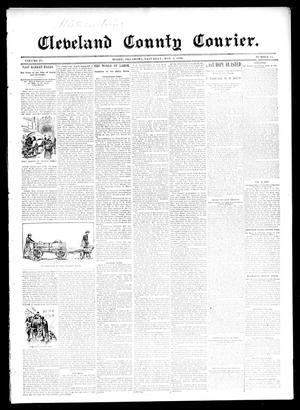 Primary view of object titled 'Cleveland County Courier. (Moore, Okla.), Vol. 4, No. 15, Ed. 1 Saturday, May 2, 1896'.
