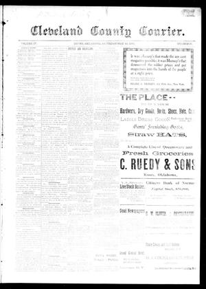 Primary view of object titled 'Cleveland County Courier. (Moore, Okla.), Vol. 4, No. 17, Ed. 1 Saturday, May 23, 1896'.