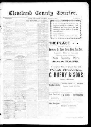 Primary view of object titled 'Cleveland County Courier. (Moore, Okla.), Vol. 4, No. 29, Ed. 1 Saturday, August 15, 1896'.