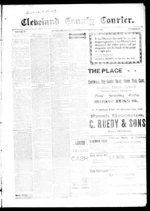 Primary view of object titled 'Cleveland County Courier. (Moore, Okla.), Vol. 4, No. 33, Ed. 1 Saturday, September 12, 1896'.