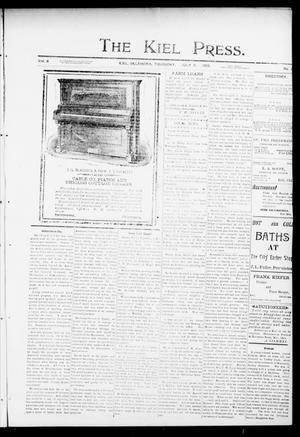 Primary view of object titled 'The Kiel Press. (Kiel, Okla.), Vol. 6, No. 10, Ed. 1 Thursday, July 9, 1903'.