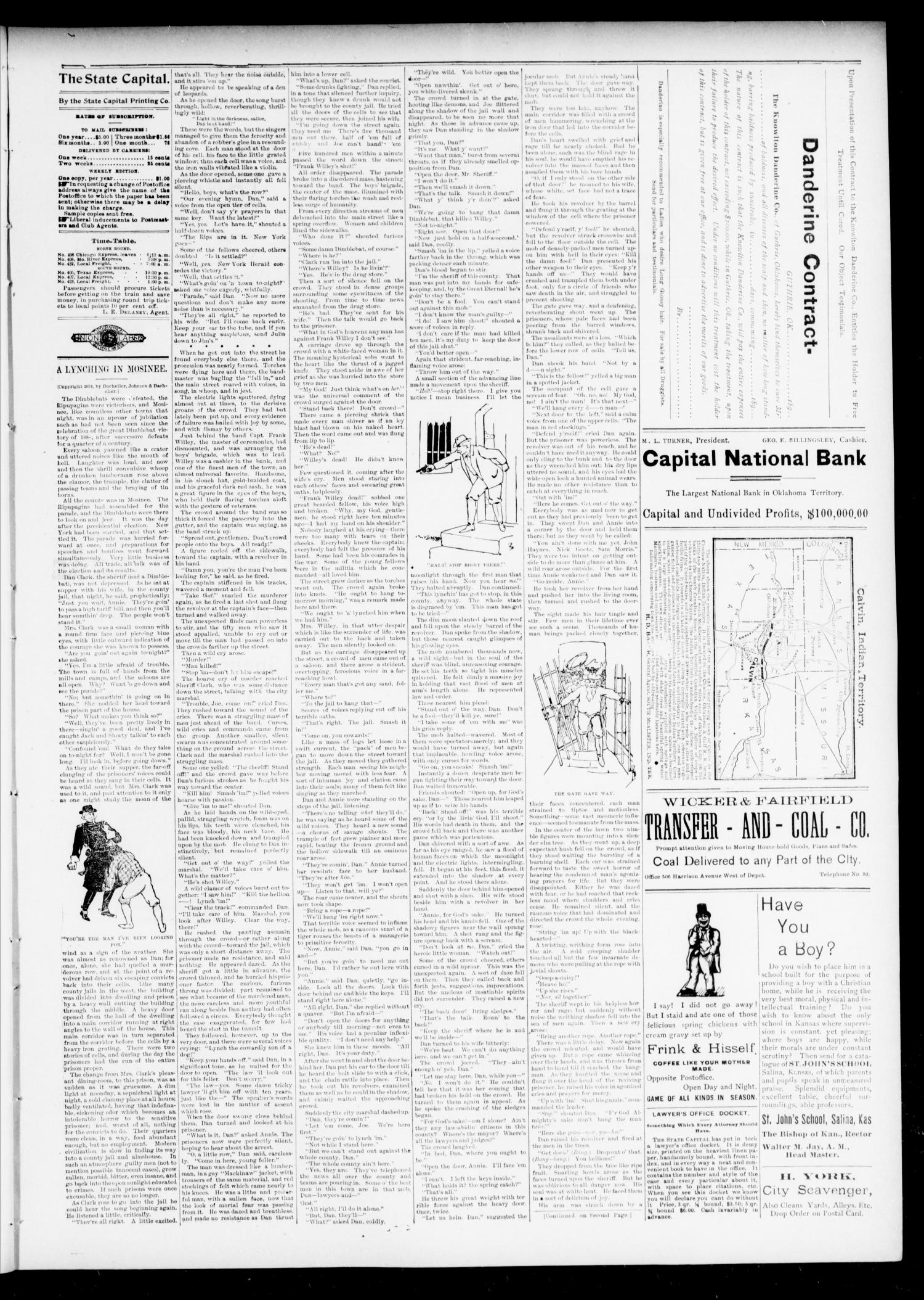 The Daily Oklahoma State Capital. (Guthrie, Okla.), Vol. 7, No. 89, Ed. 1 Monday, August 5, 1895                                                                                                      [Sequence #]: 3 of 6