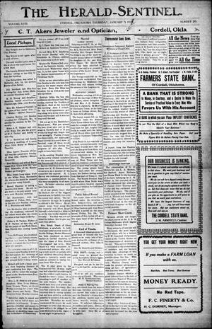 The Herald-Sentinel. (Cordell, Okla.), Vol. 18, No. 20, Ed. 1 Thursday, January 5, 1911