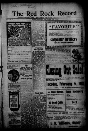 The Red Rock Record (Red Rock, Okla.), Vol. 2, No. 45, Ed. 1 Thursday, February 4, 1915