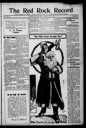 The Red Rock Record (Red Rock, Okla.), Vol. 2, No. 39, Ed. 1 Thursday, December 24, 1914