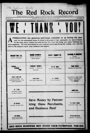 The Red Rock Record (Red Rock, Okla.), Vol. 2, No. 40, Ed. 1 Thursday, December 31, 1914