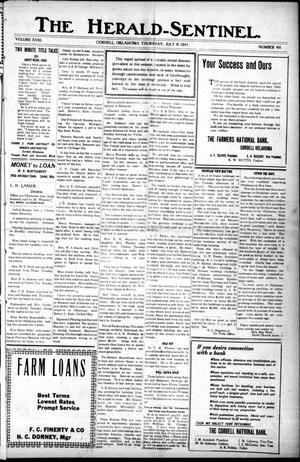 The Herald-Sentinel. (Cordell, Okla.), Vol. 18, No. 46, Ed. 1 Thursday, July 6, 1911