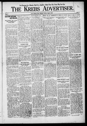 Primary view of object titled 'The Krebs Advertiser (Krebs, Okla.), Vol. 1, No. 12, Ed. 1 Thursday, August 4, 1910'.