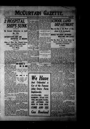 Primary view of McCurtain Gazette. (Idabel, Okla.), Vol. 12, No. 53, Ed. 1 Wednesday, April 25, 1917