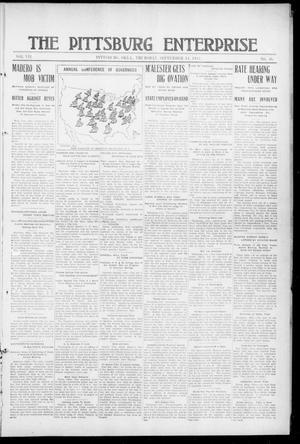 Primary view of The Pittsburg Enterprise (Pittsburg, Okla.), Vol. 7, No. 36, Ed. 1 Thursday, September 14, 1911