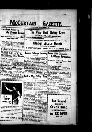 Primary view of object titled 'McCurtain Gazette. (Idabel, Okla.), Vol. 13, No. 58, Ed. 1 Saturday, September 14, 1918'.