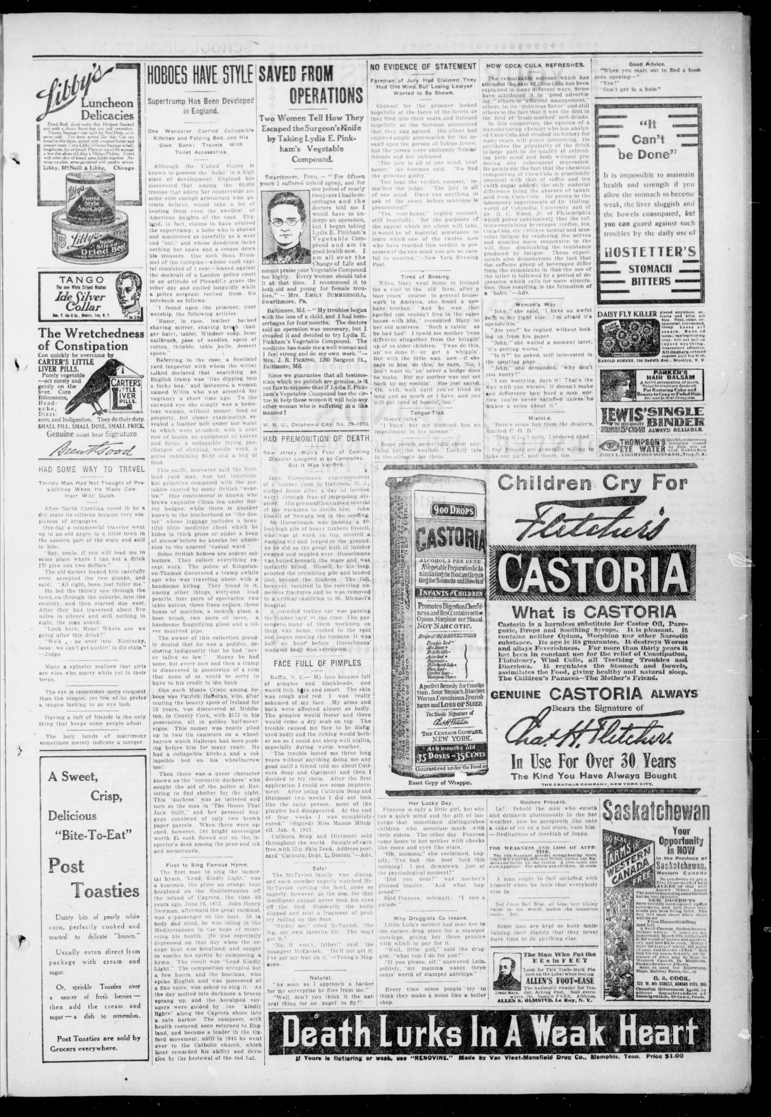 The Pittsburg Enterprise (Pittsburg, Okla.), Vol. 9, No. 2, Ed. 1 Thursday, July 17, 1913                                                                                                      [Sequence #]: 3 of 4