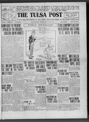 Primary view of object titled 'The Tulsa Post (Tulsa, Okla.), Vol. 2, No. 151, Ed. 1 Tuesday, July 18, 1911'.