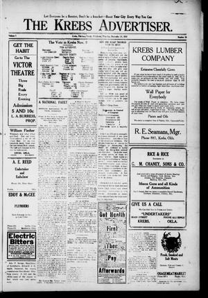 Primary view of object titled 'The Krebs Advertiser (Krebs, Okla.), Vol. 1, No. 26, Ed. 1 Thursday, November 10, 1910'.