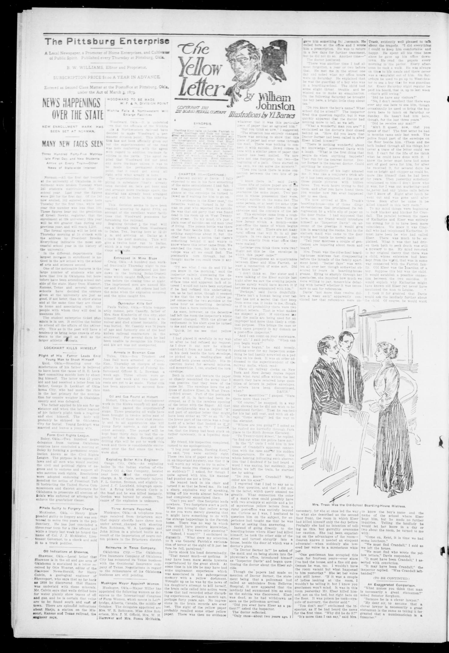 The Pittsburg Enterprise (Pittsburg, Okla.), Vol. 8, No. 40, Ed. 1 Thursday, October 3, 1912                                                                                                      [Sequence #]: 4 of 8