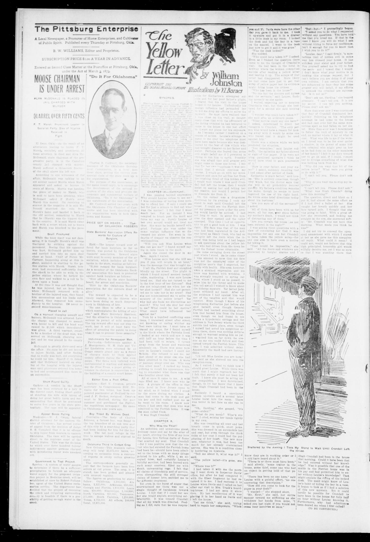 The Pittsburg Enterprise (Pittsburg, Okla.), Vol. 8, No. 49, Ed. 1 Thursday, December 5, 1912                                                                                                      [Sequence #]: 4 of 8