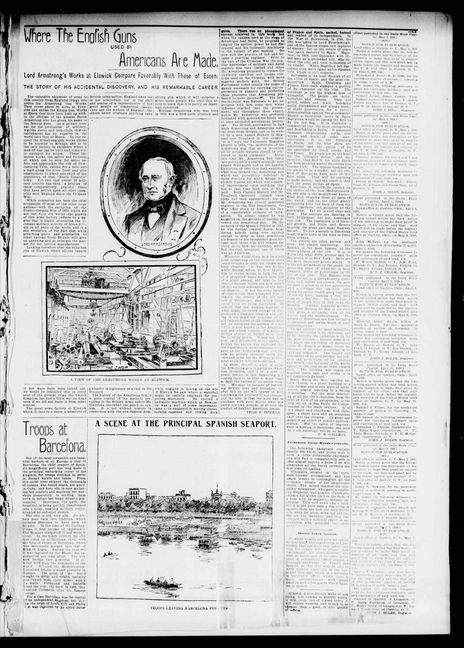 The Daily Oklahoma State Capital. (Guthrie, Okla.), Vol. 10, No. 10, Ed. 1 Tuesday, May 3, 1898                                                                                                      [Sequence #]: 3 of 8